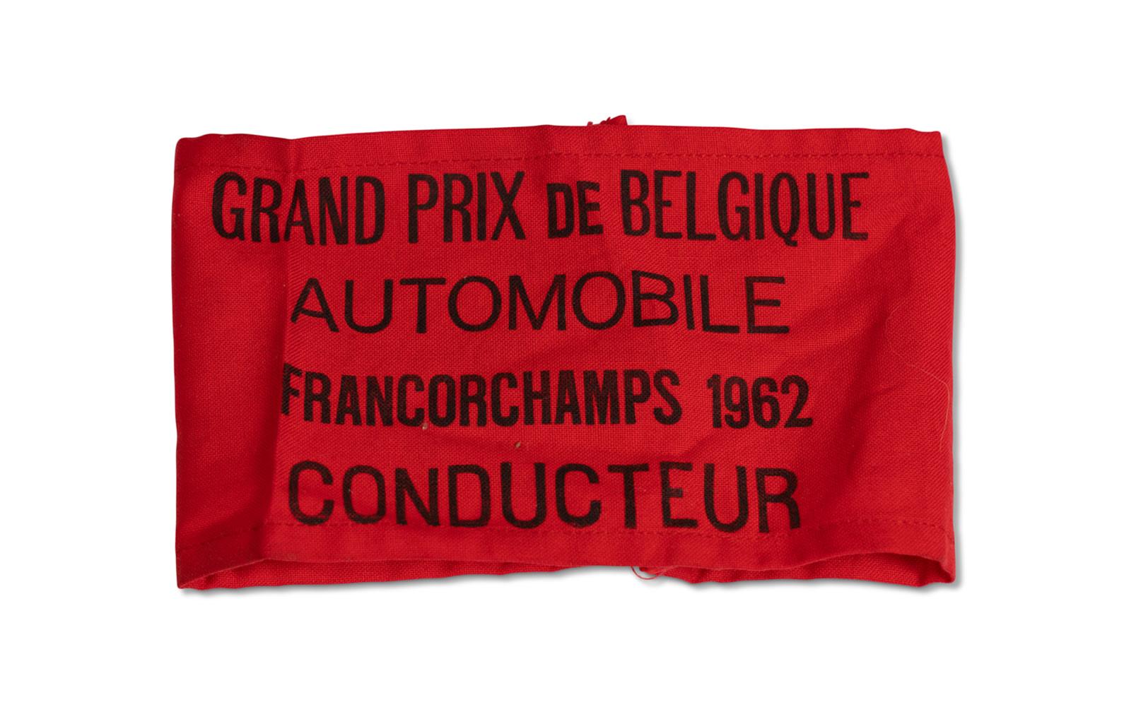 1962 Grand Prix of Belgium Driver Armband