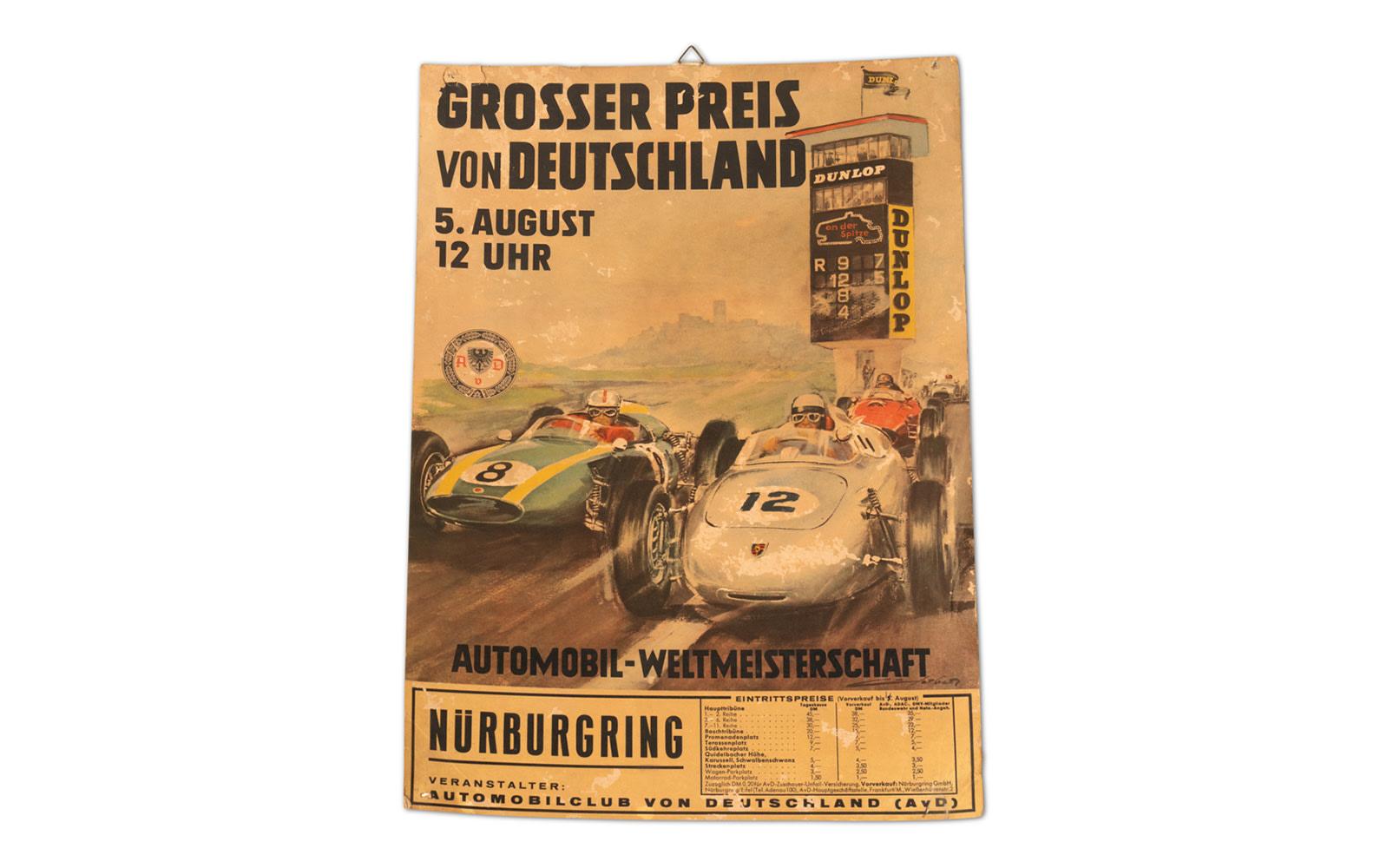 1962 German Grand Prix Official Poster