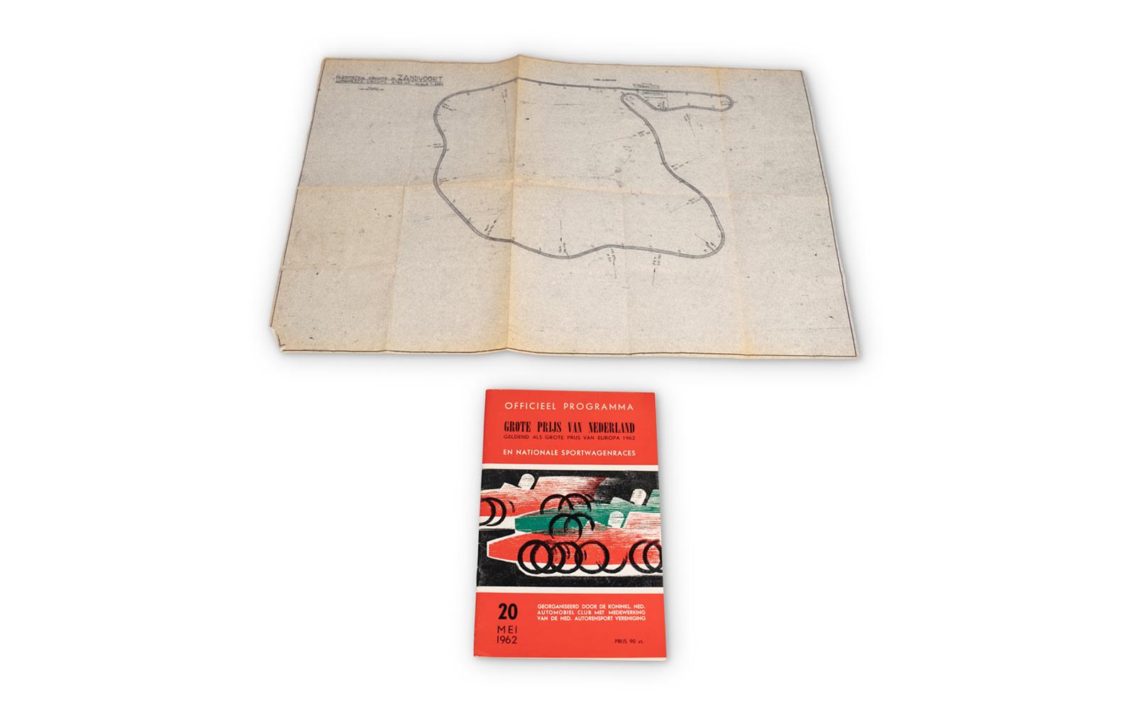 1962 Dutch Grand Prix Official Race Program and Zandvoort Circuit Map