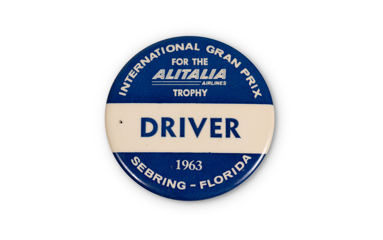 1963 12 Hours of Sebring Driver Pin