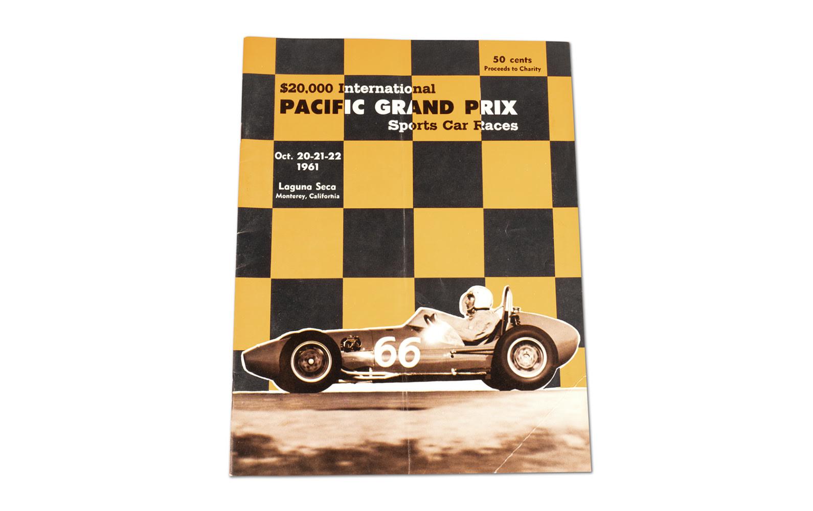 1961 Pacific Grand Prix Sports Car Races at Laguna Seca Official Race Program