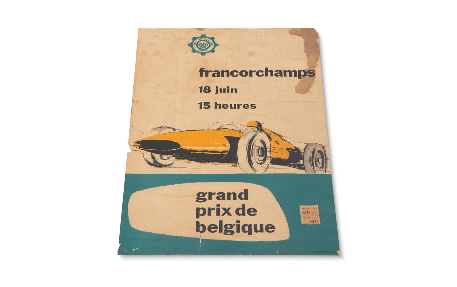 1961 Grand Prix of Belgium Official Race Poster