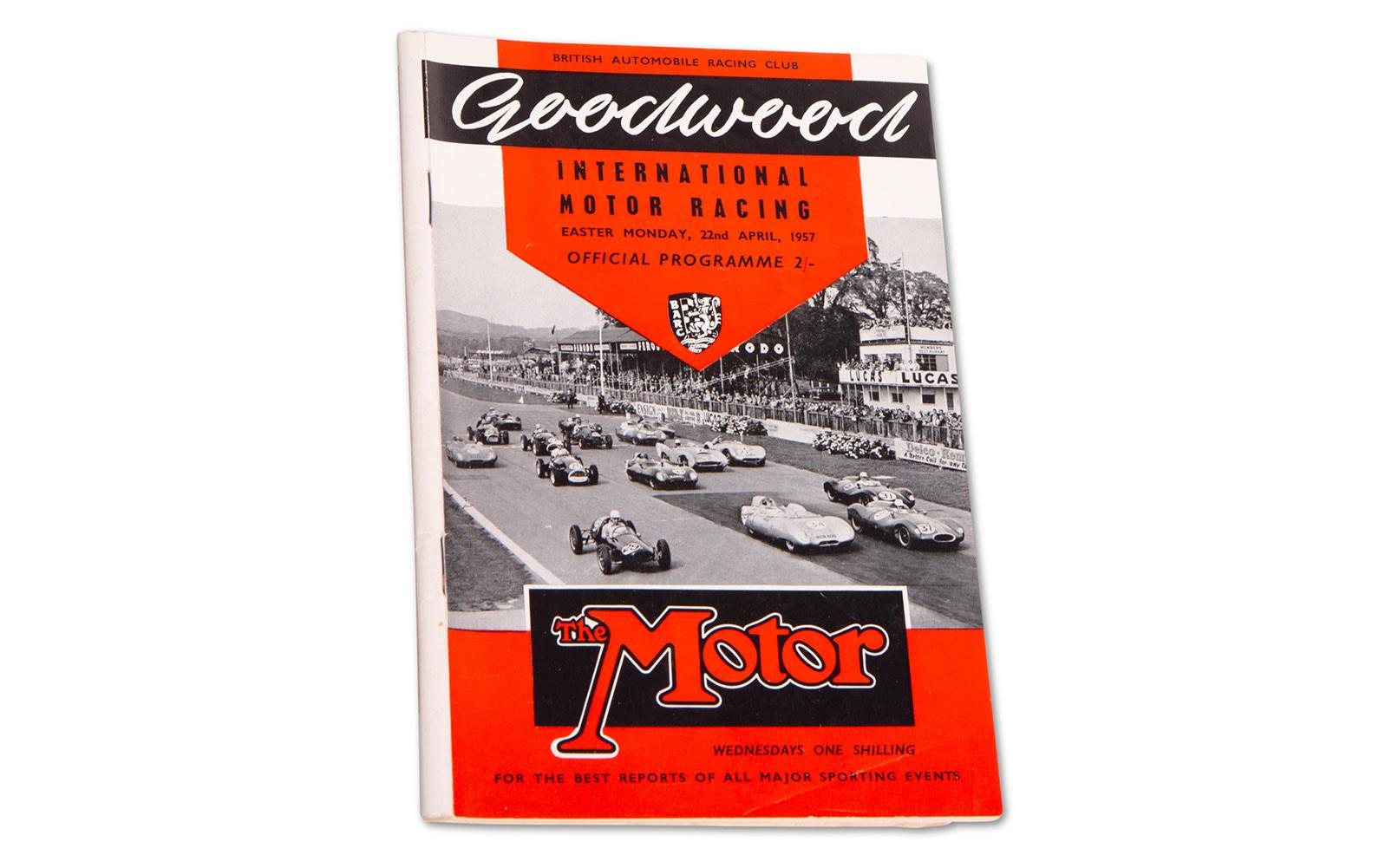 1957 Goodwood Official Easter Monday Program