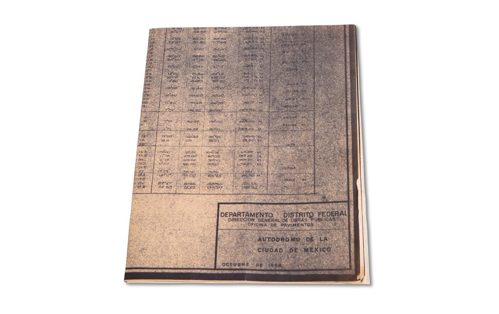 Blueprint for Autodromo de la Ciudad de Mexico, Dated October 1958