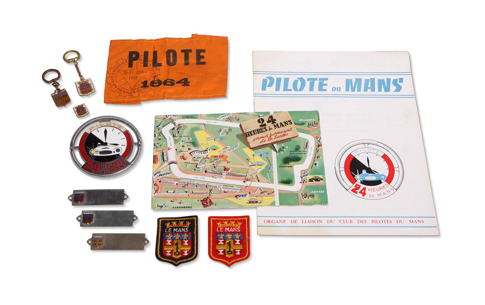 Prod/O21C - Phil Hill B 2021/B0187_1964 Le Mans Driver's Band and Memorabilia/B0187_1964_Le_Mans_Drivers_Band_Memorabilia_1_njawps