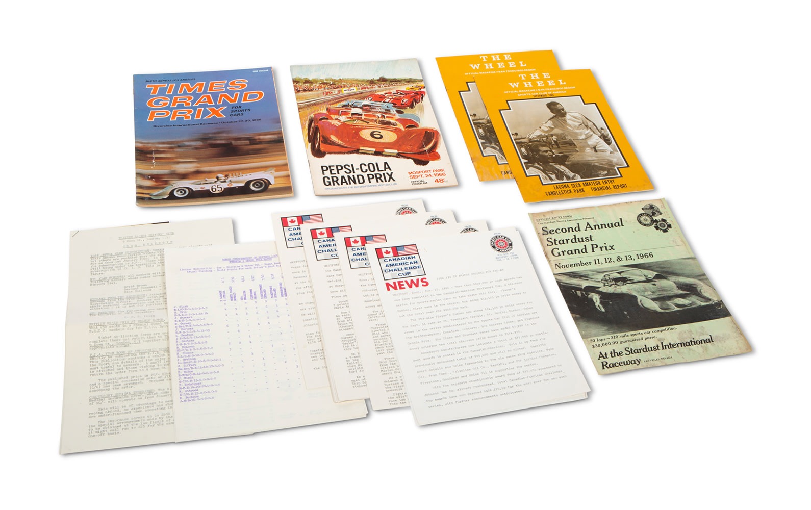 1966 Can-Am Literature and Programs