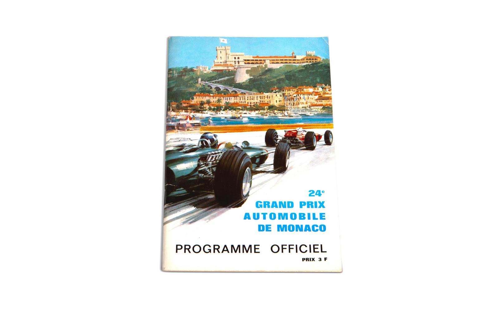 1966 Monaco Grand Prix Official Race Program