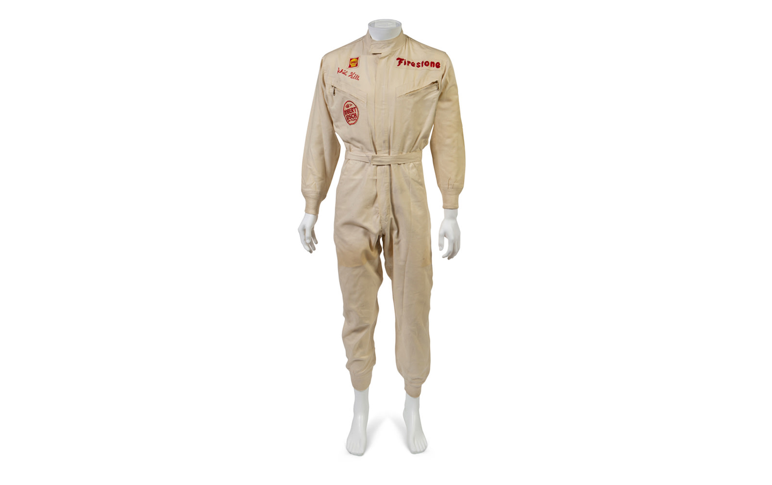Phil Hill's 1967 1000 Km Spa-Francorchamps Driver Armband and One-Piece Hinchman Racing Suit