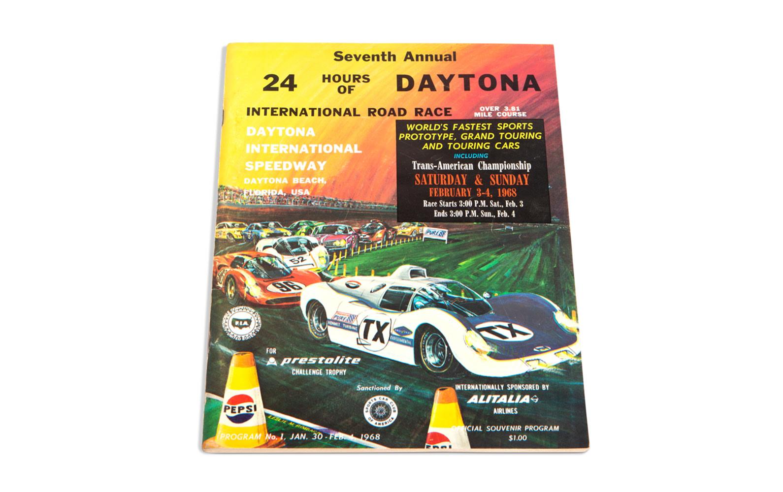 1968 24 Hours of Daytona Official Race Program