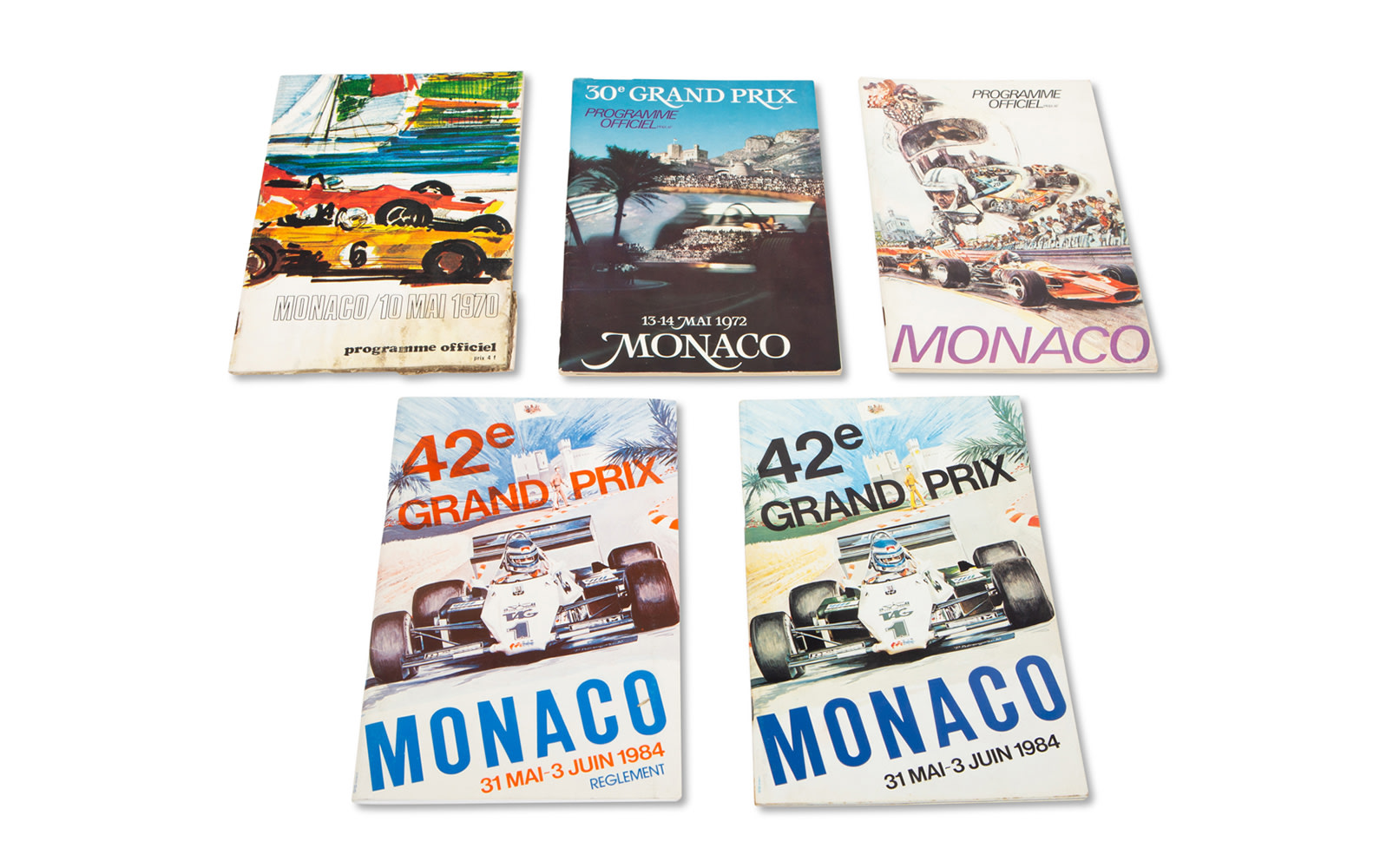 Assorted Monaco Grand Prix Official Race Programs