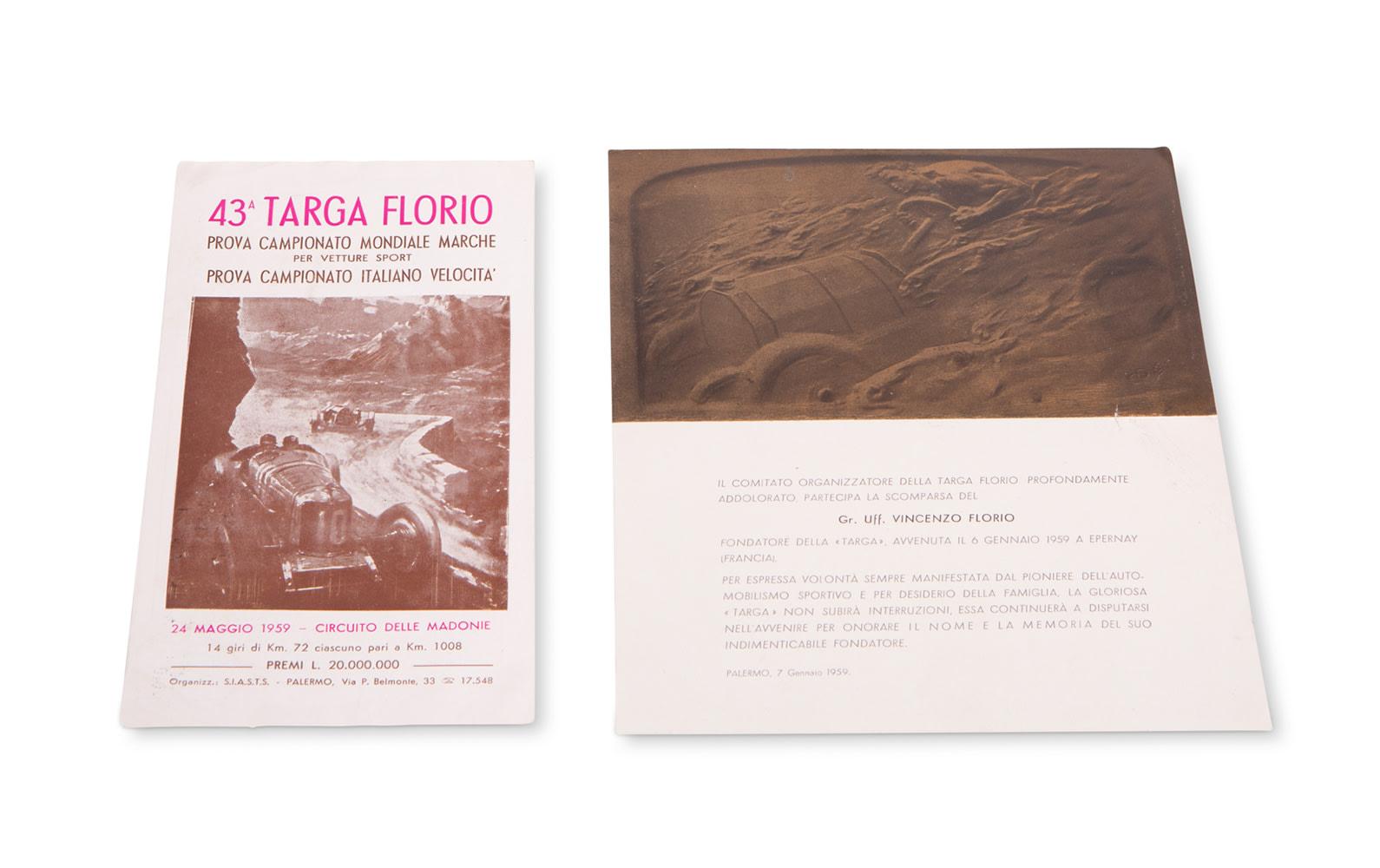 1959 Targa Florio Promotional Materials