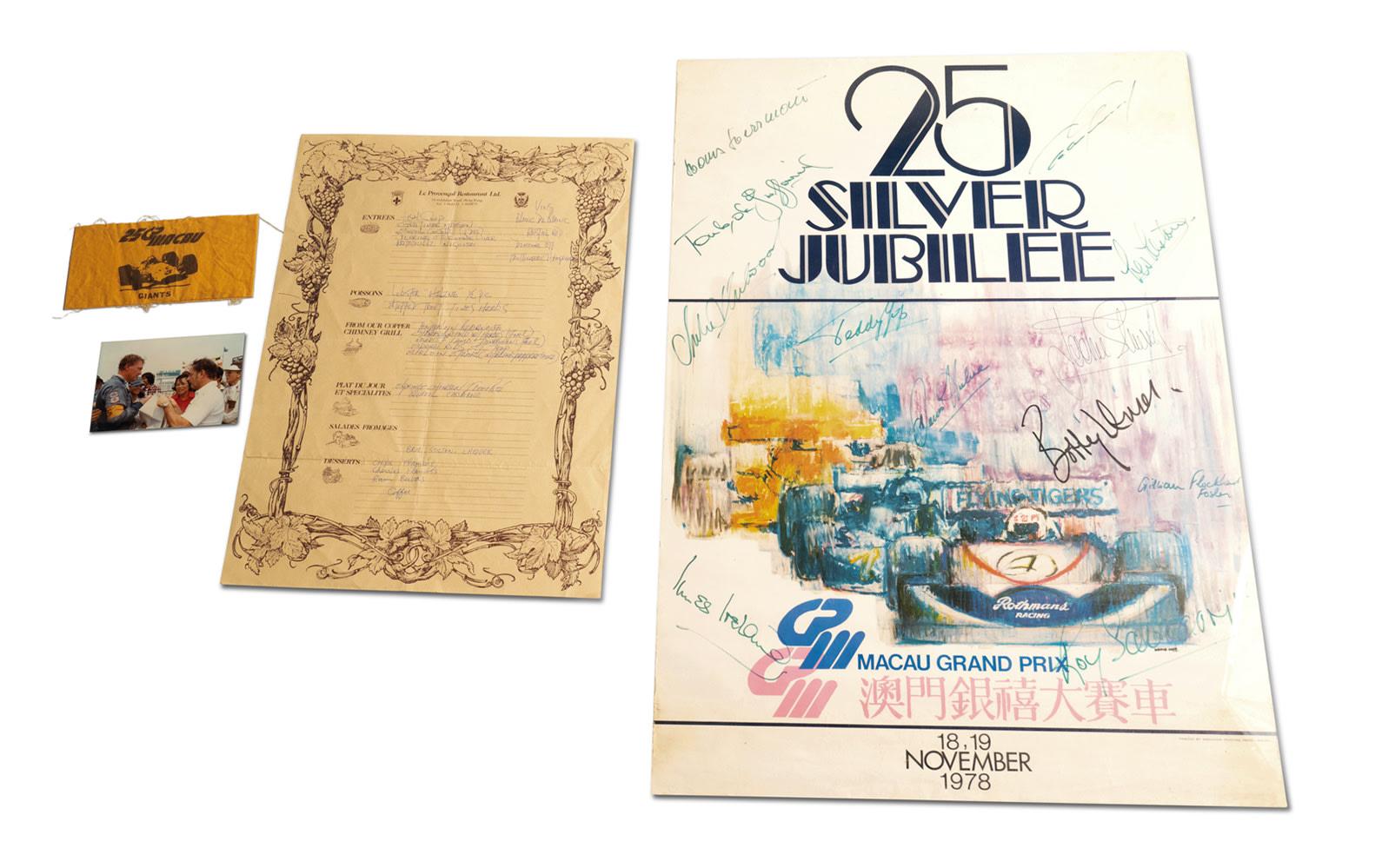 1978 Macau Grand Prix Signed Poster and Armband