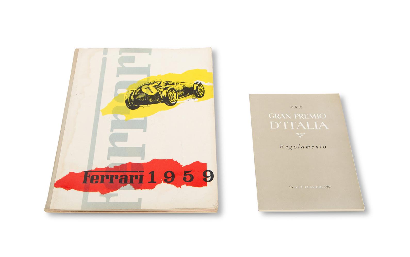 1959 Ferrari Yearbook and Italian Grand Prix Regulation Book