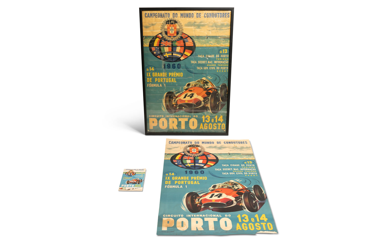1960 Grand Premio de Portugal Official Race Program and Posters, Framed and Unframed