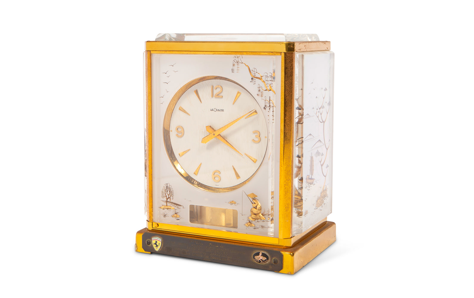 Jaeger-LeCoultre Atmos Clock Presented to Phil Hill by the Madison Avenue Sports-Car Driving and Chowder Society, 1961