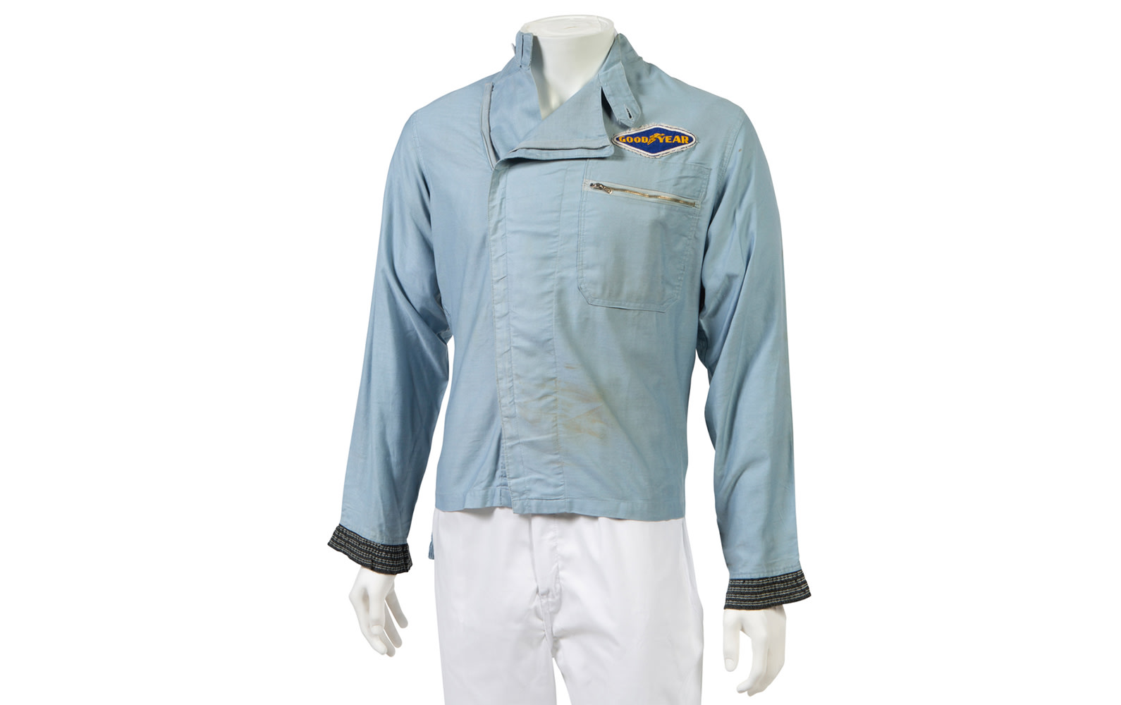 Les Leston Ltd. Driving Suit Top Worn by Phil Hill During His Time Driving GT40s for Shelby American