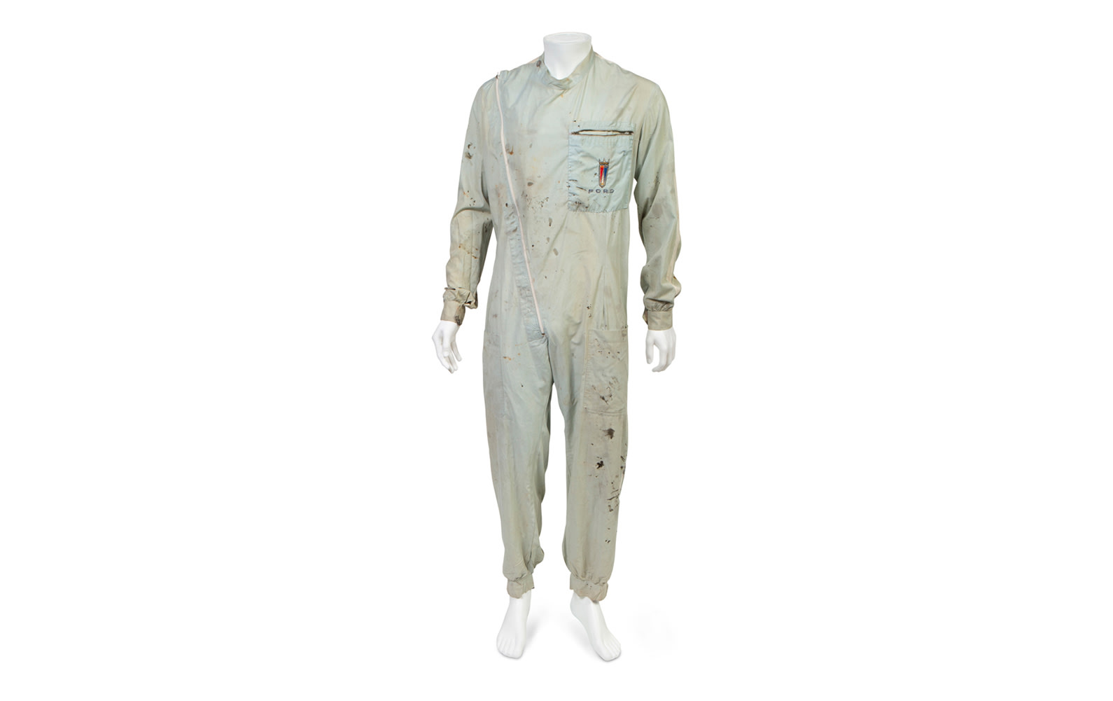 Practical Uniforms London One-Piece Driving Suit, Monogrammed with Ford on the Pocket, c. 1964