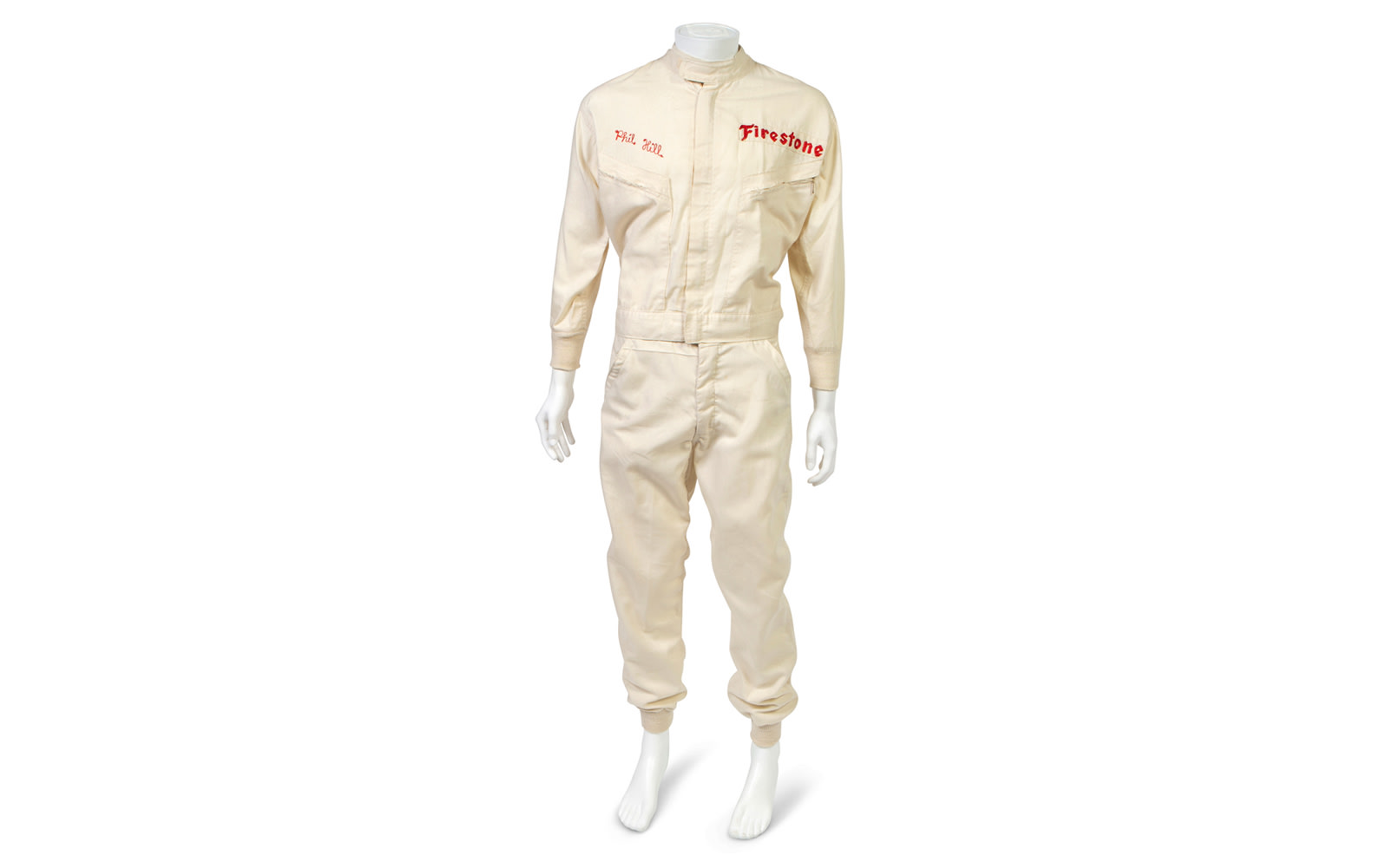 Hinchman Indianapolis Two-Piece Driving Suit, Used During Phil Hill's Time with the Chaparral Racing Team