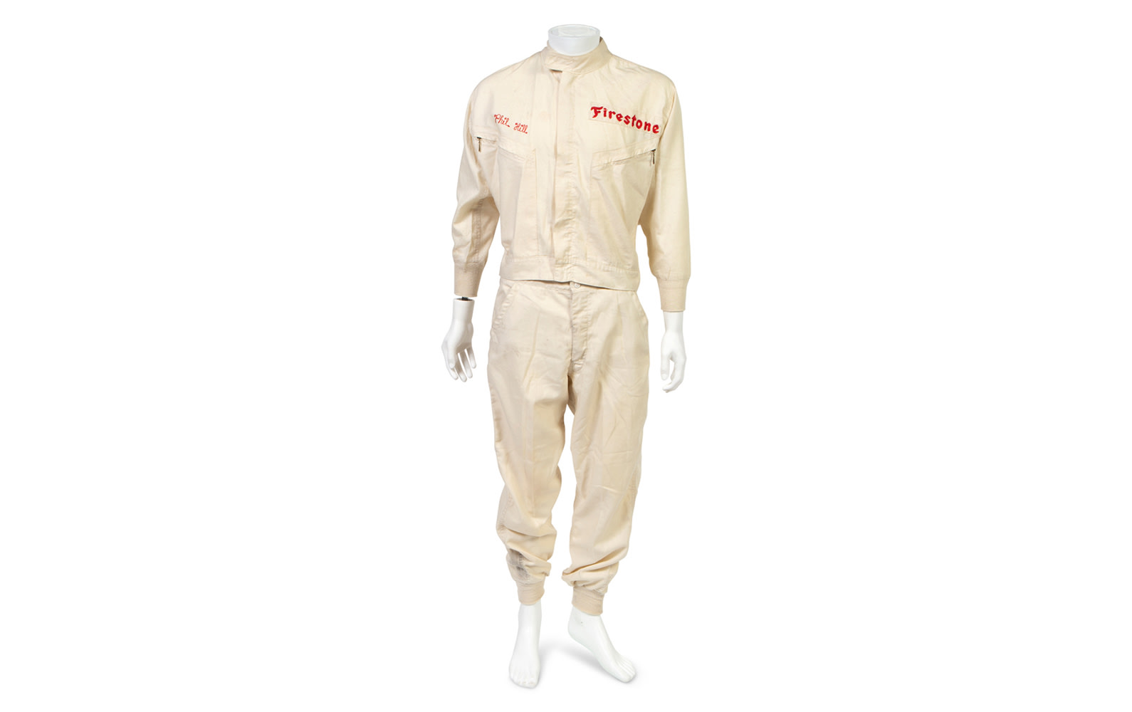 Hinchman Two-Piece Driving Suit, Used During Phil Hill's Time with the Chaparral Racing Team
