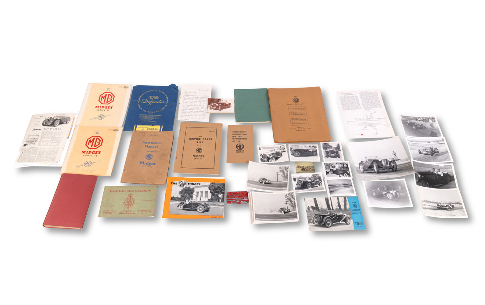Extensive Documentation, Photographs, and Correspondence Relating to Phil Hill's MG TC