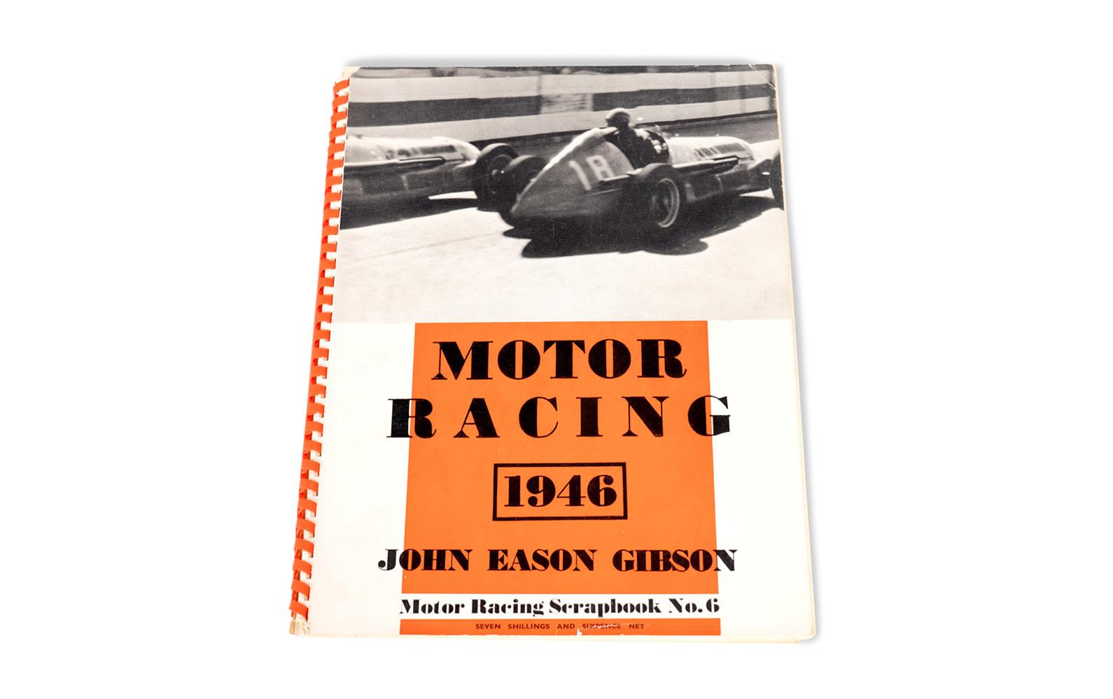 1946 Motor Racing Scrapbook No. 6 by John Eason Gibson