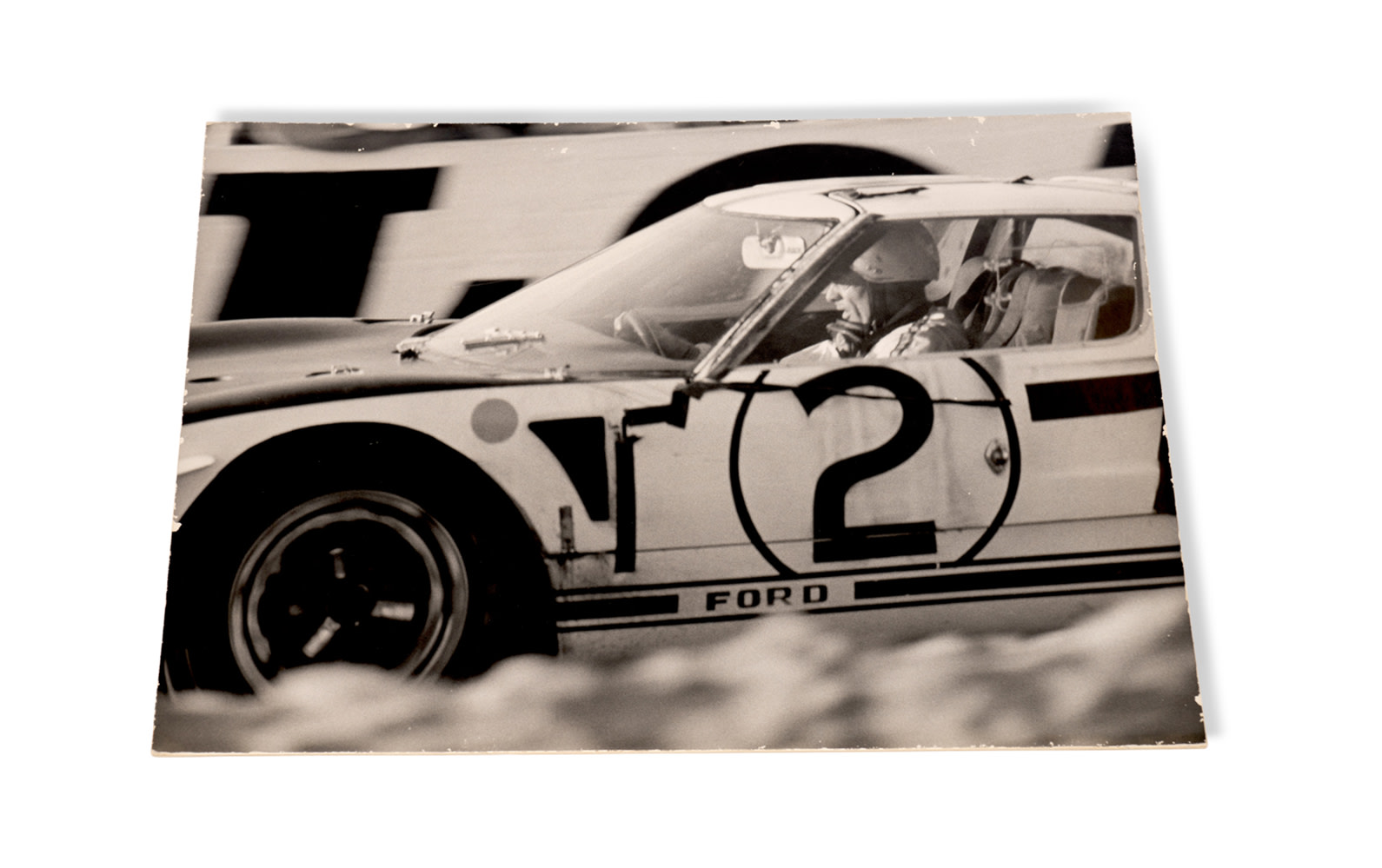 1965 24 Hours of Le Mans Photograph of Phil Hill Driving the Ford GT40