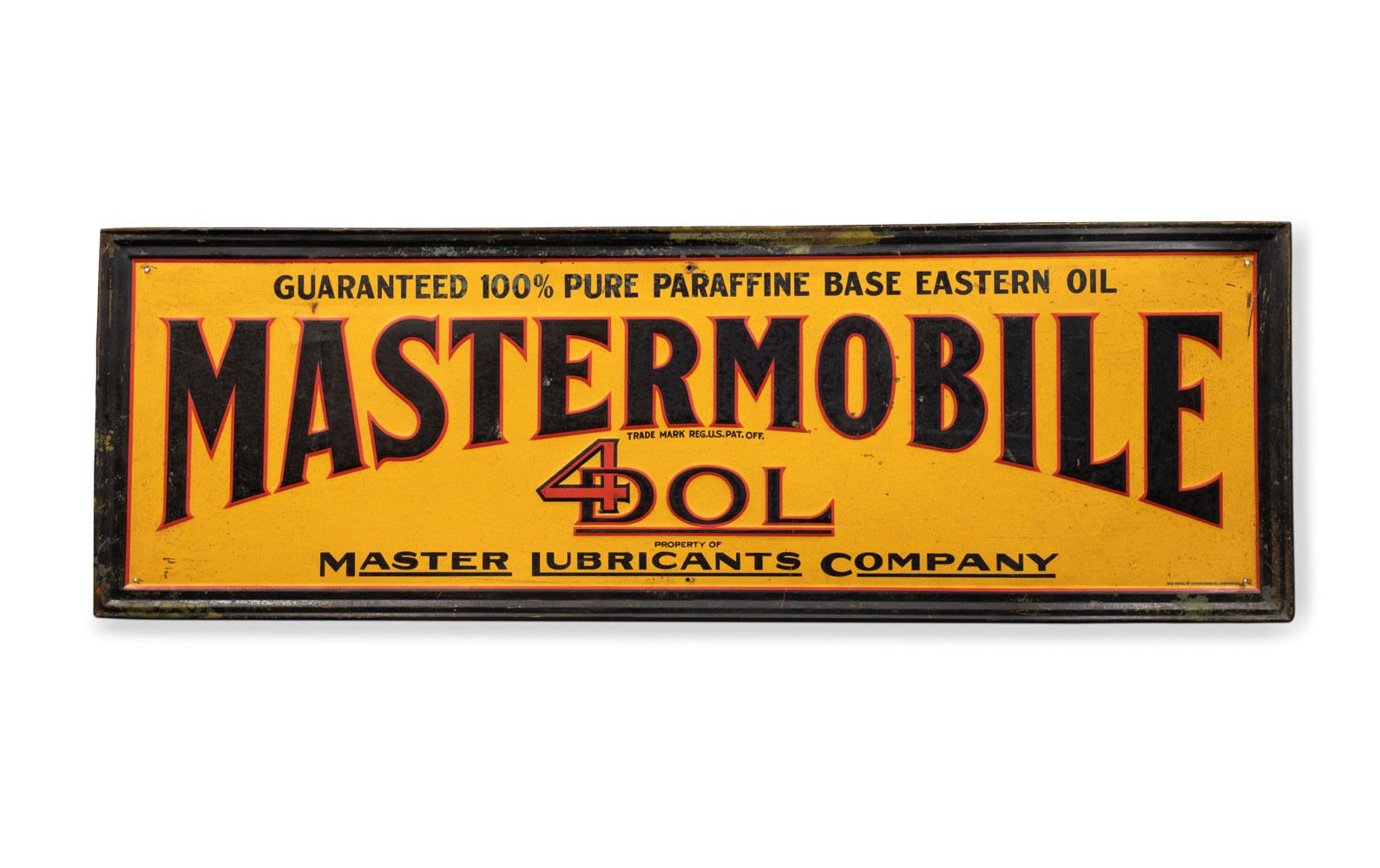 Mastermobile Motor Oil Sign