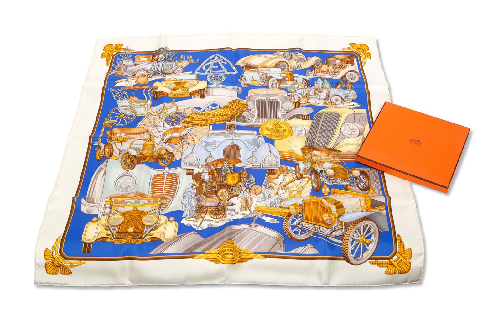 Assorted Silk Scarves by Hermès and Salvatore Ferragamo