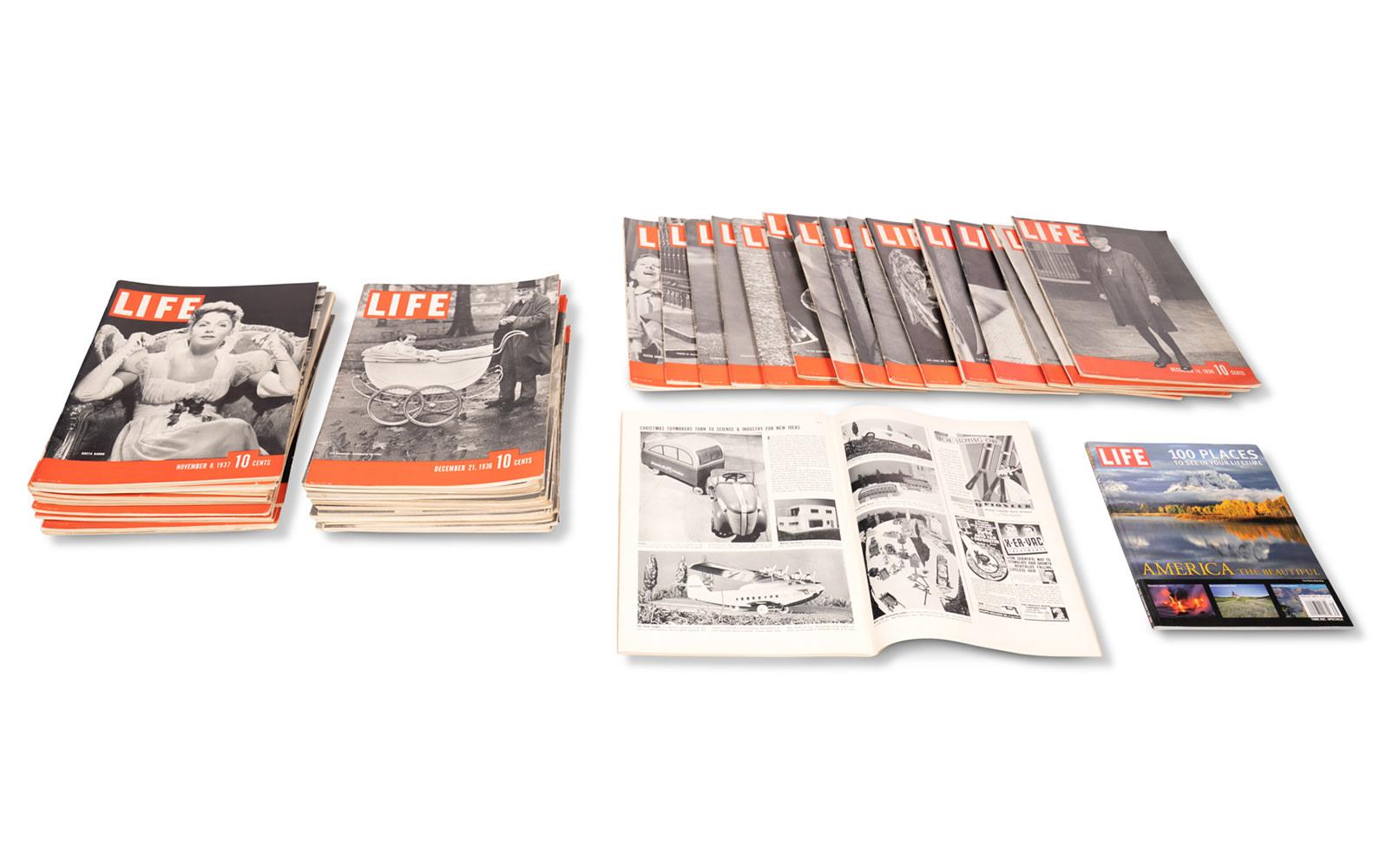 Selection of Life Magazines, c. 1937