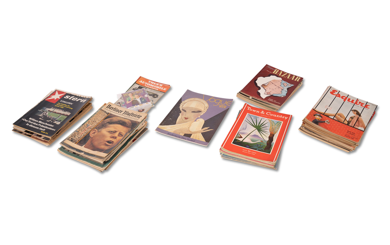 Assorted Harper's Bazaar, Esquire, Town & Country, and Other Period Magazines, c. 1930s–1950s