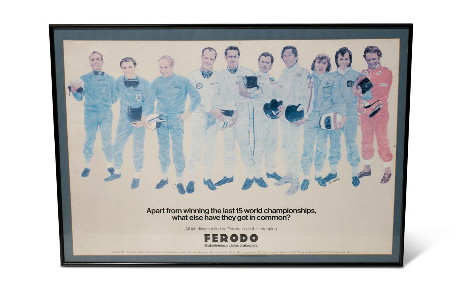 Prod/O21E - Phil Hill C 2021/C0037_Ferodo Poster, Framed/C0037_Ferodo_Poster_1_jgny3y