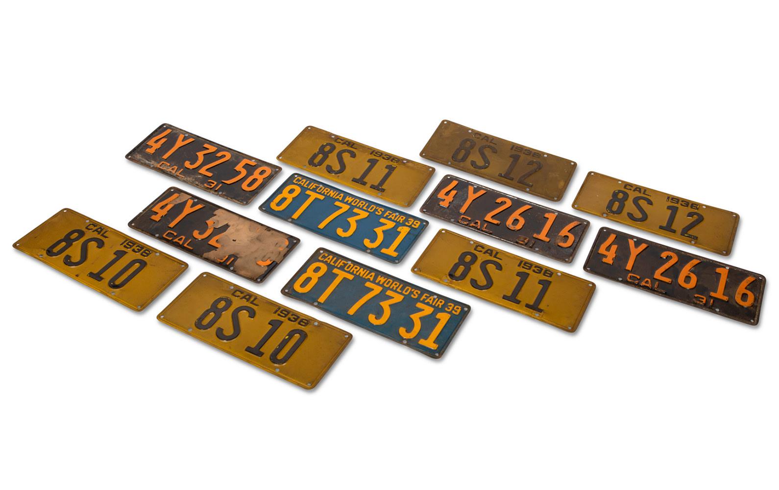 Prod/O21E - Phil Hill C 2021/C0052_1930s California License Plates/C0052_1930s_California_License_Plates_1_rsgjoe