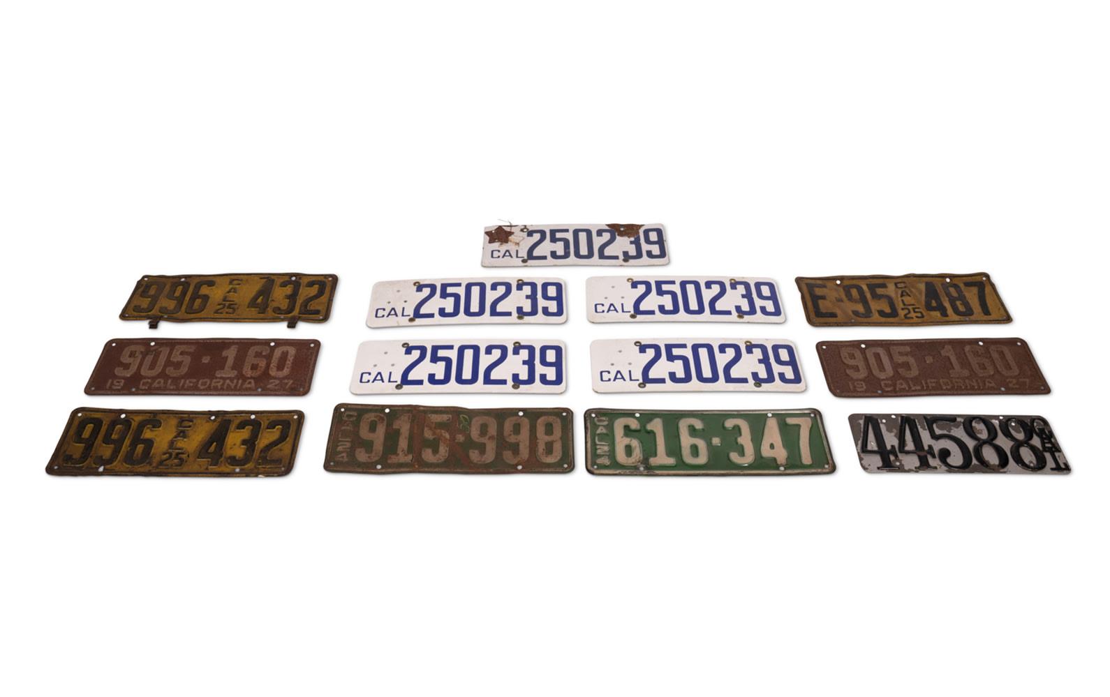 Prod/O21E - Phil Hill C 2021/C0054_Early California License Plates, c. 1910-1920/C0054_1910-1920_California_License_Plates_1_i7leap