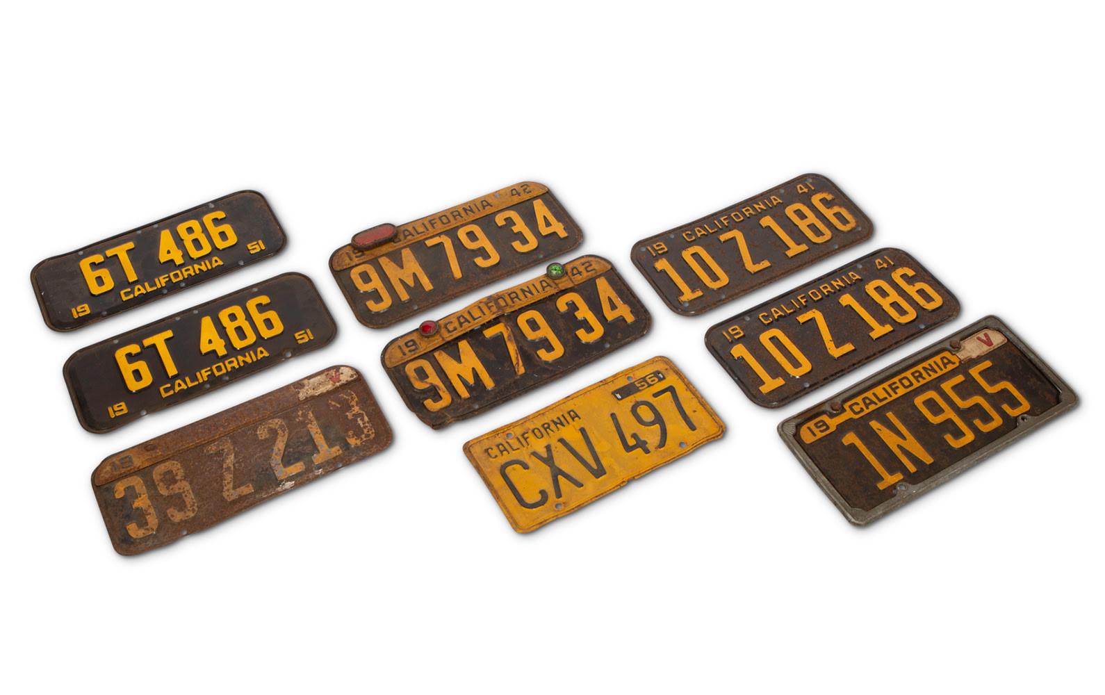 Prod/O21E - Phil Hill C 2021/C0056_California License Plates, c. 1940-1950/C0056_1940-1950_California_License_Plates_1_sgcgnt