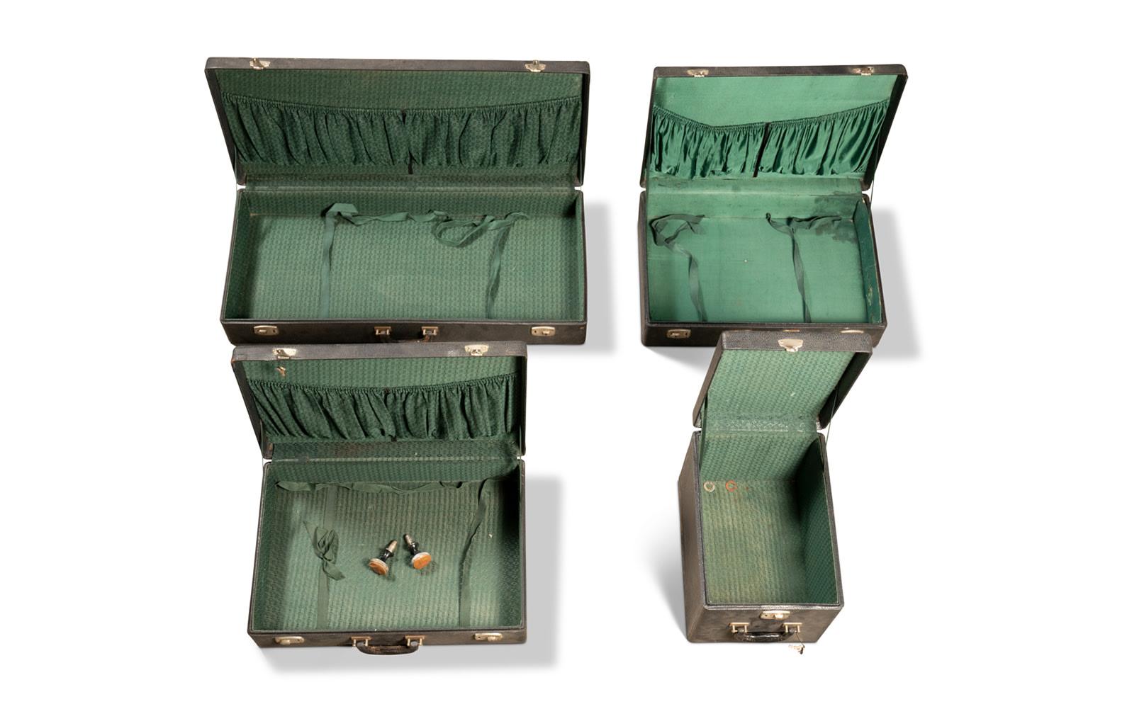 Four-Piece Motoring Luggage Set, c. 1920s