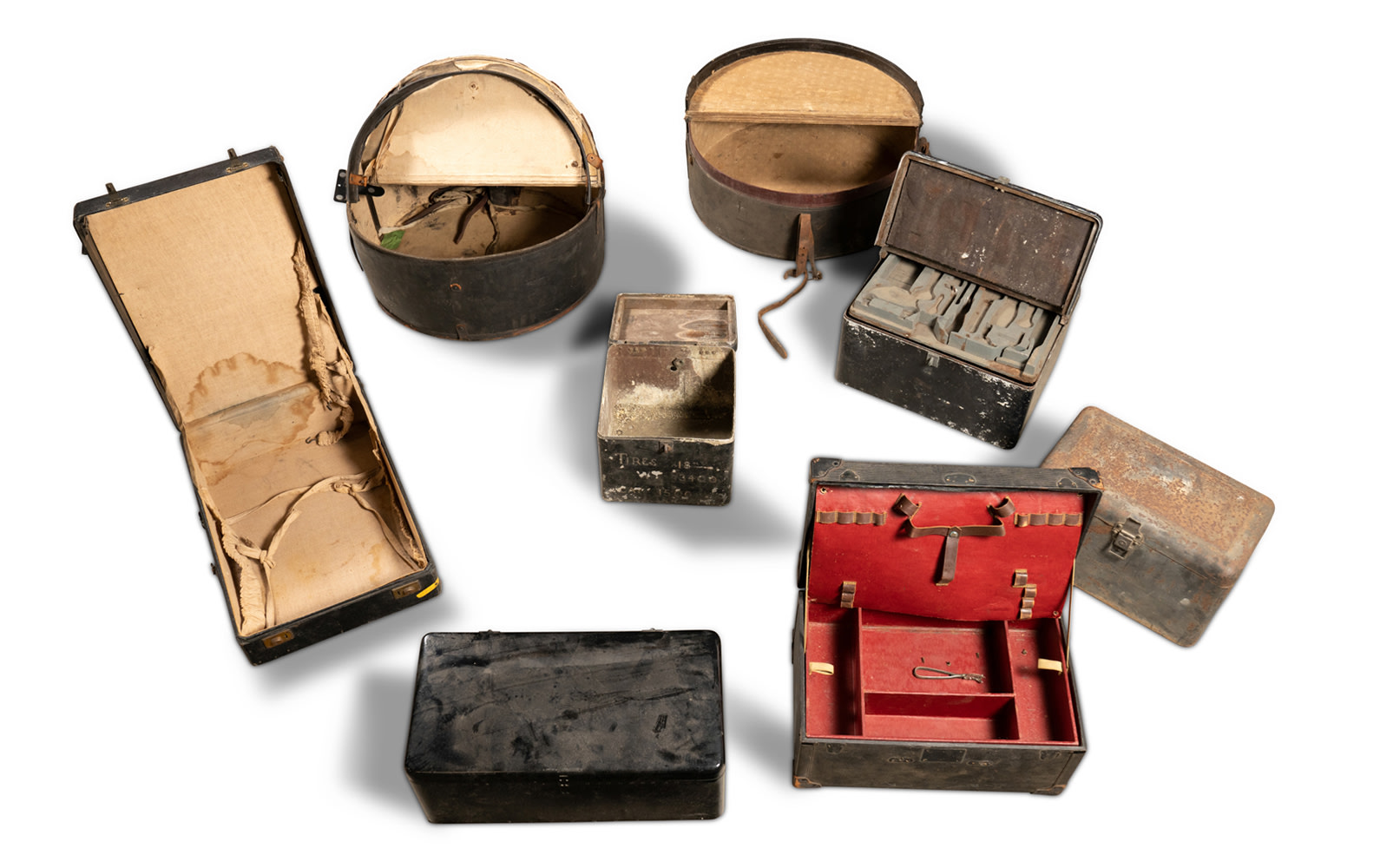 Assorted Motoring Boxes and Luggage