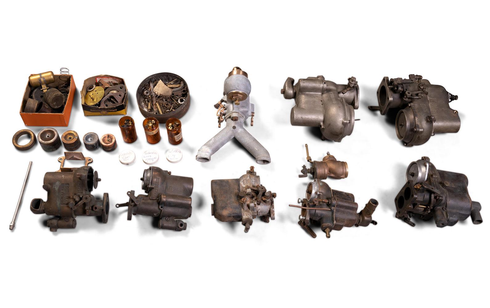 Assorted Schebler Carburetors and Components