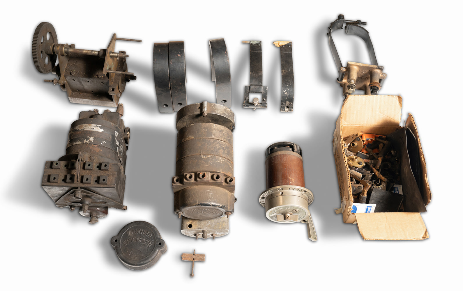 Assorted Eisemann Magnetos and Ignition Parts