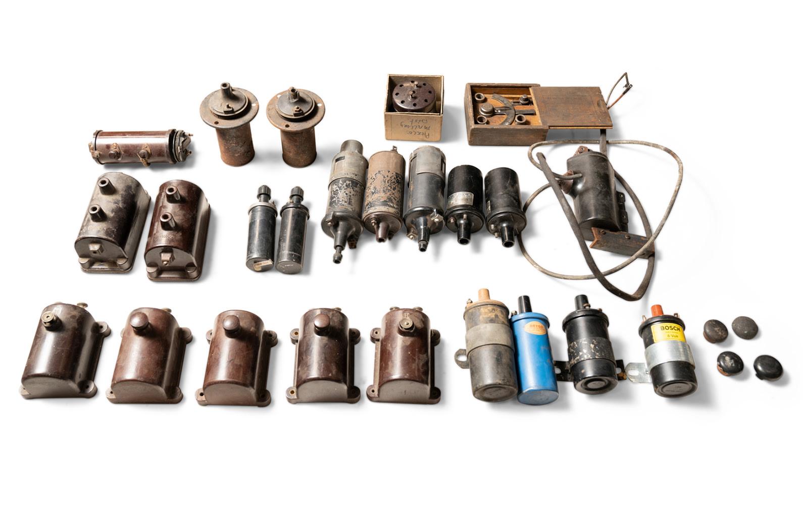 Assorted Prewar and Postwar Coils and Accessories
