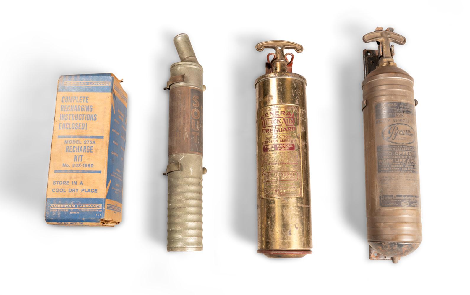 Assorted Vintage Fire Extinguishers