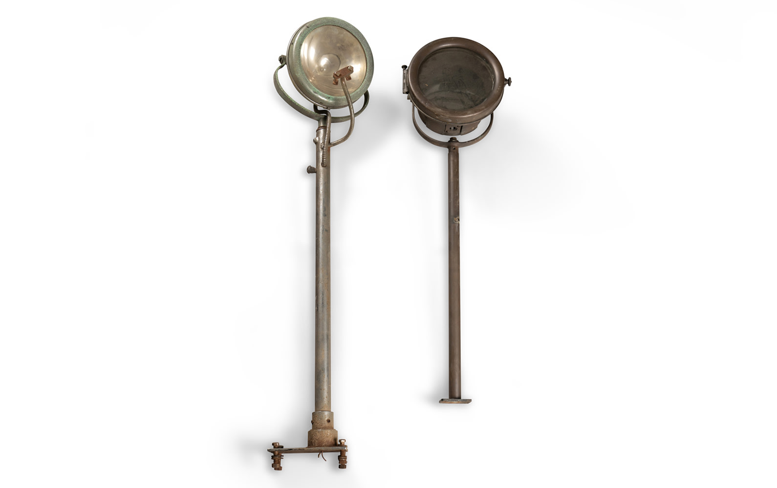 Two Stantion-Type Spotlights