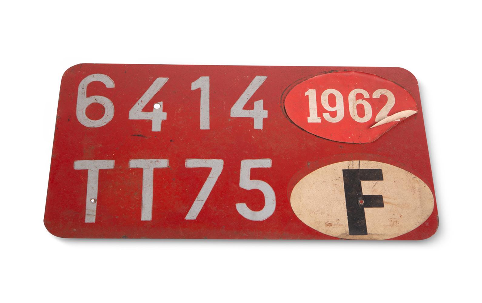 Prod/O21E - Phil Hill C 2021/C0177_1962 French License Plate/C0177_1962_French_License_Plate_1_vjt8aa