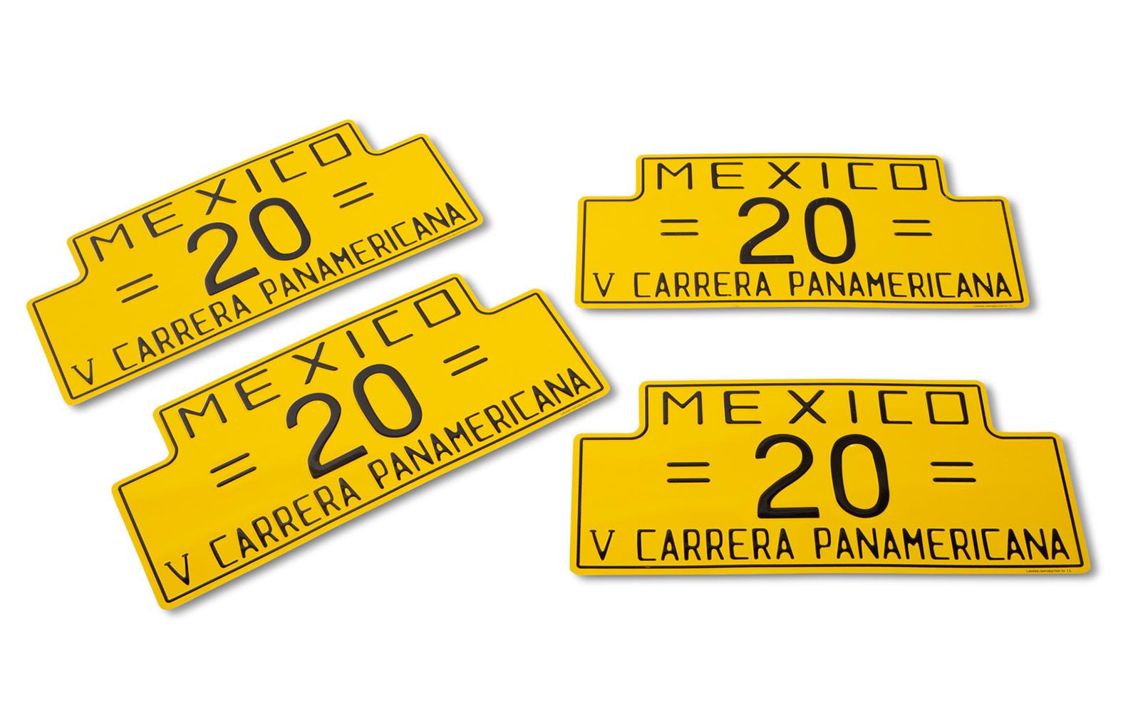 Prod/O21E - Phil Hill C 2021/C0178_1954 Carrera Panamericana Reproduction Plates/C0178_1954_Carrera_Panamericana_Plates_1_coxugv