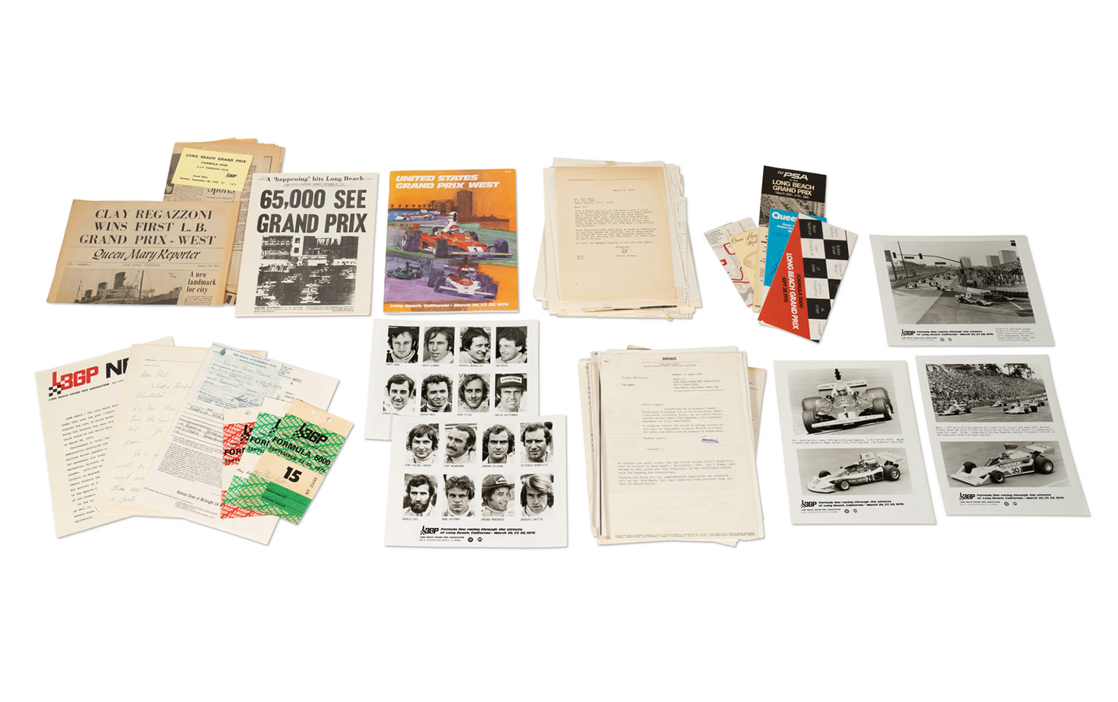 Assorted Paperwork and Files Pertaining to the Long Beach Grand Prix