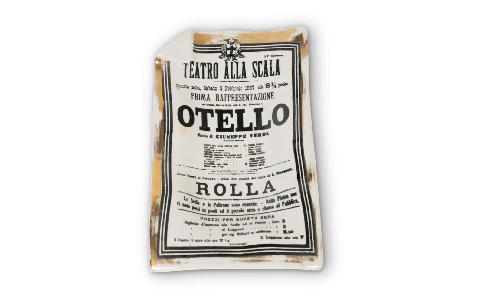 Decorative Tray Styled After the Poster for Giuseppe Verdi's Opera Otello