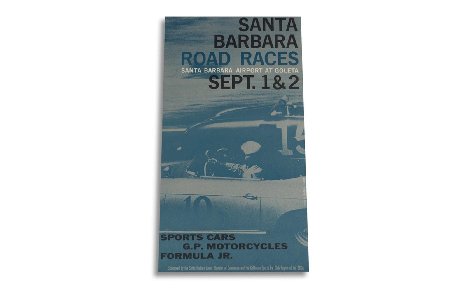Santa Barbara Road Races Poster, 1962