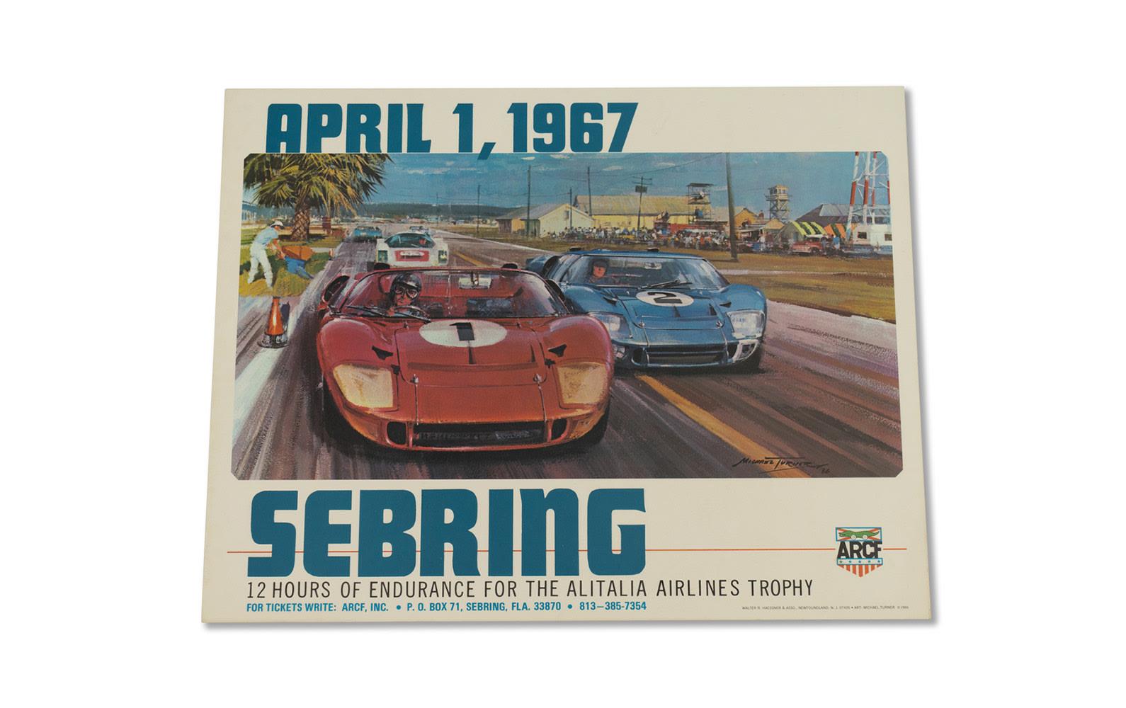 12 Hours of Sebring Poster, 1967