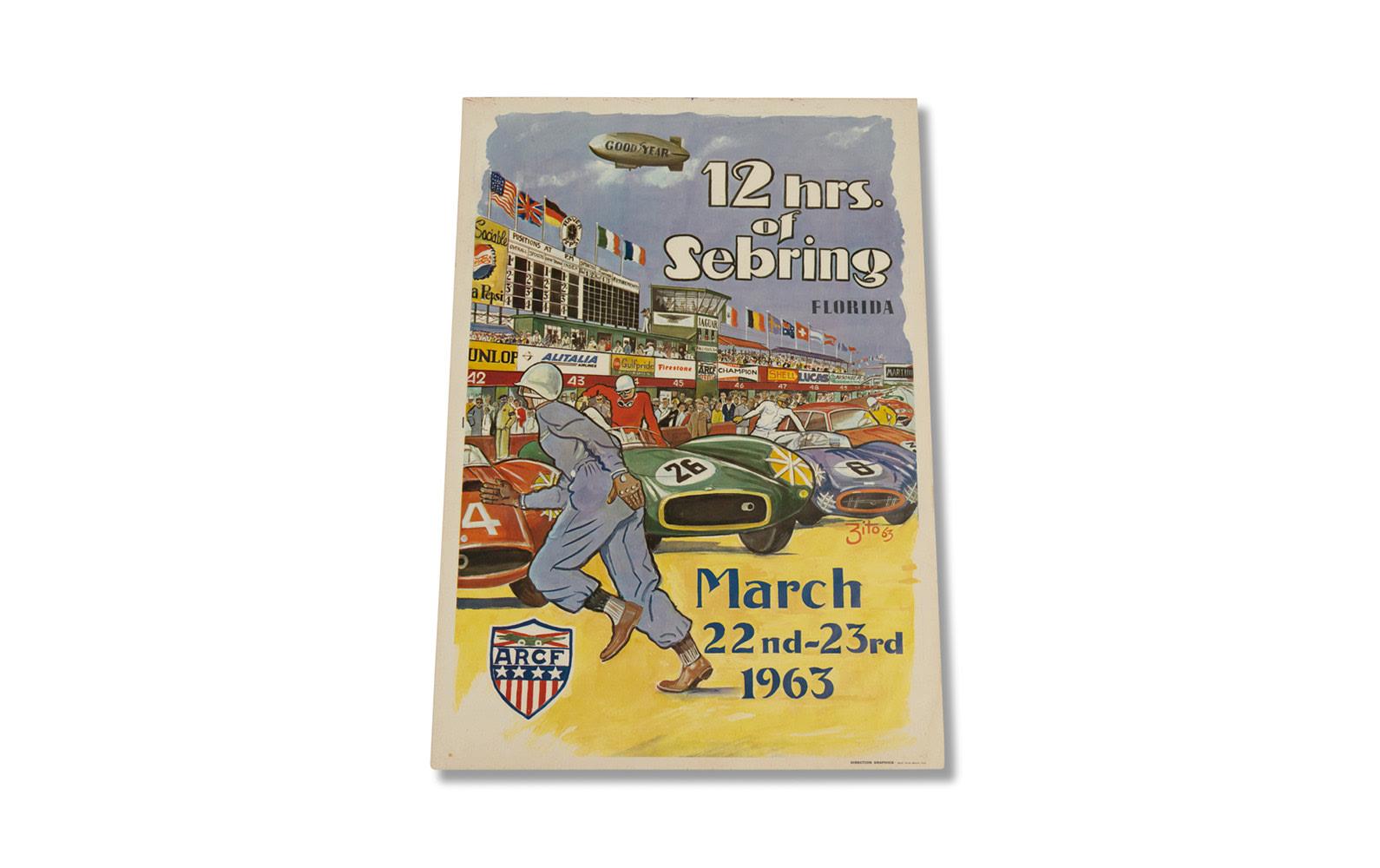 12 Hours of Sebring Poster, 1963