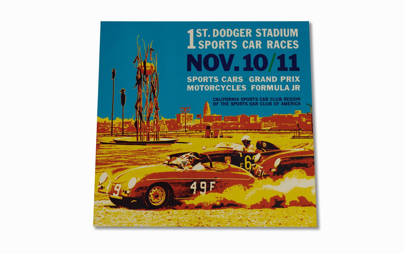 1st Dodger Stadium Sports Car Races Poster, 1962