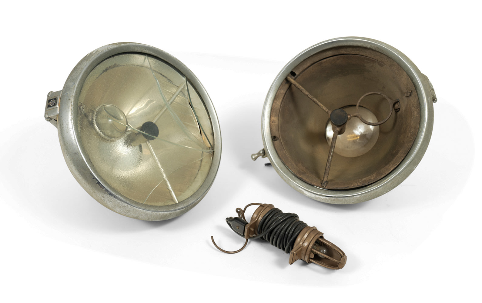 Pair of Lucas P100S DB-Style Headlamps and Trouble Light